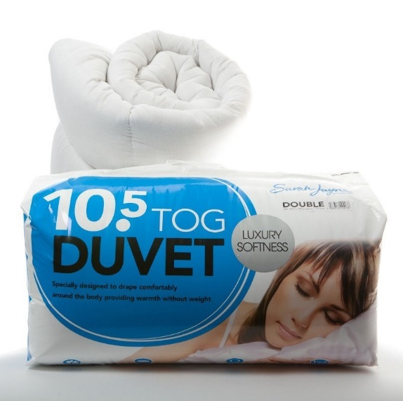 10 5 Tog Double Luxury Hollowfibre Anti Allergy Duvet Warm
