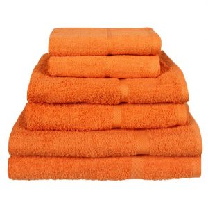 450gsm Orange Hand Towels Homesware Uk