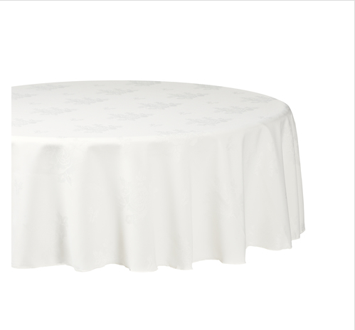 Ivory Round Tablecloths Damask Rose Homesware Uk